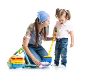 Housekeeping Los Angeles - teaching kids to clean their rooms