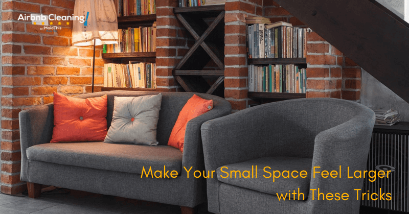 make small space larger airbnb
