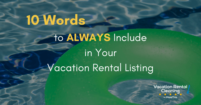 vacation rental listing words